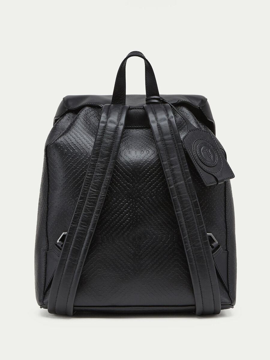 Bubble effect Tresor calfskin backpack