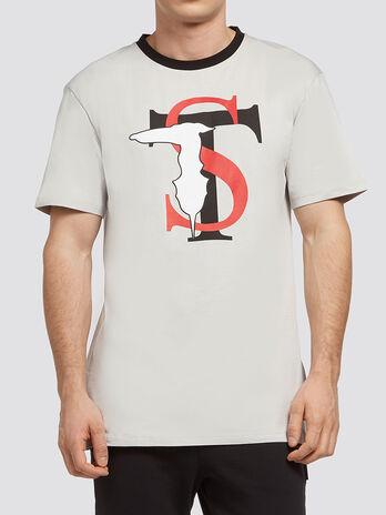 T shirt puro cotone con stampa logo