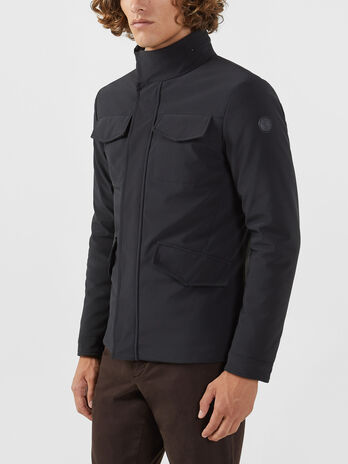 Regular fit field jacket in technical fabric
