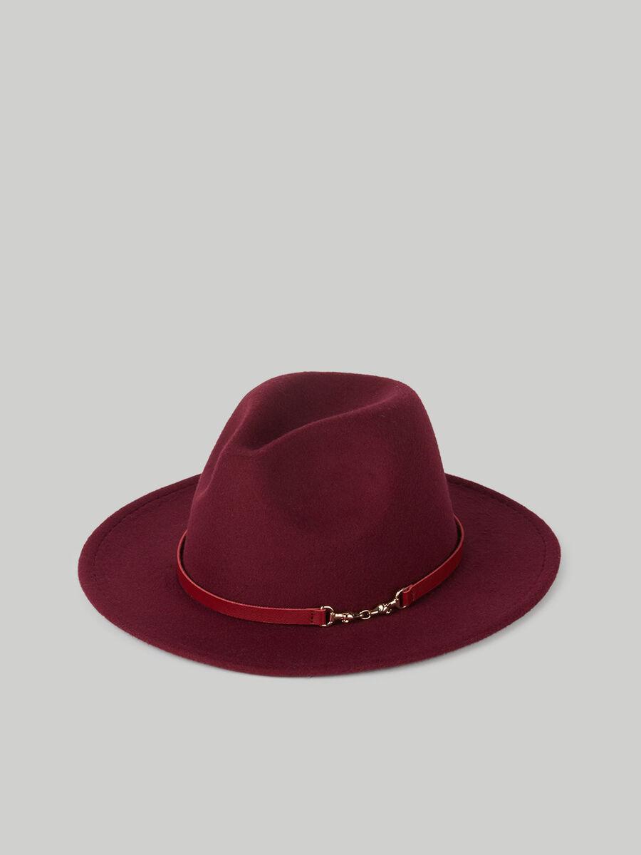 Hut aus Velours- und Kunstleder