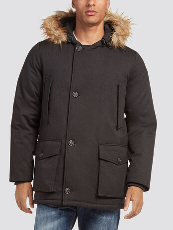 Parka over fit in nylon real duvet