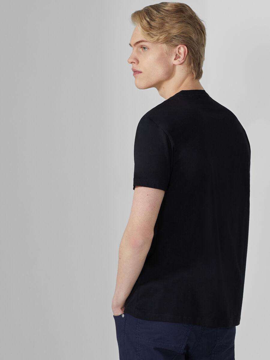 T-shirt coupe classique en coton a lettering