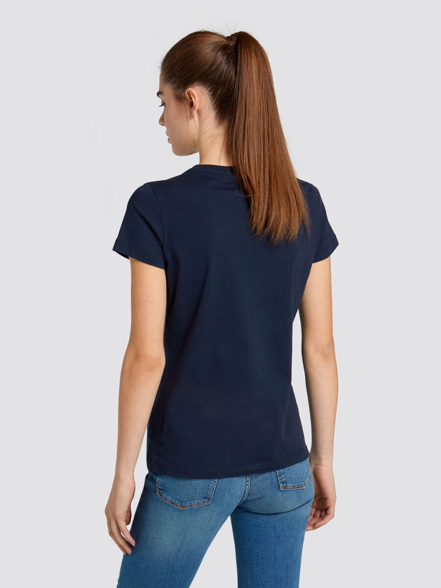 T shirt regular fit in jersey di cotone con logo