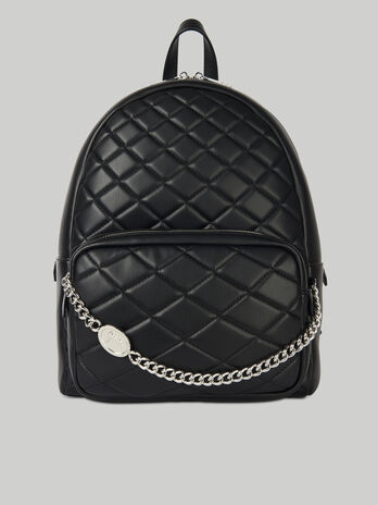 Daisy backpack in quilted faux leather