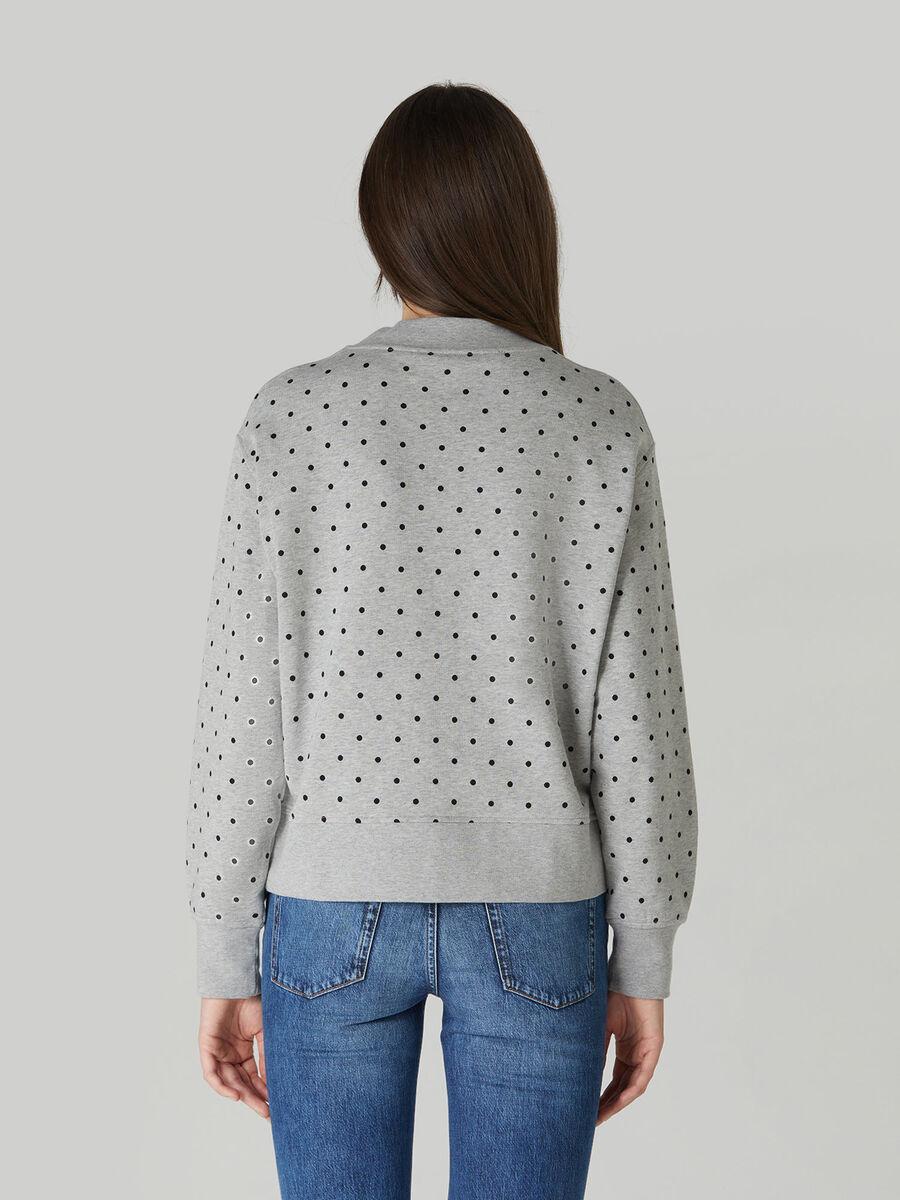 Boxy cotton sweatshirt with foiled print