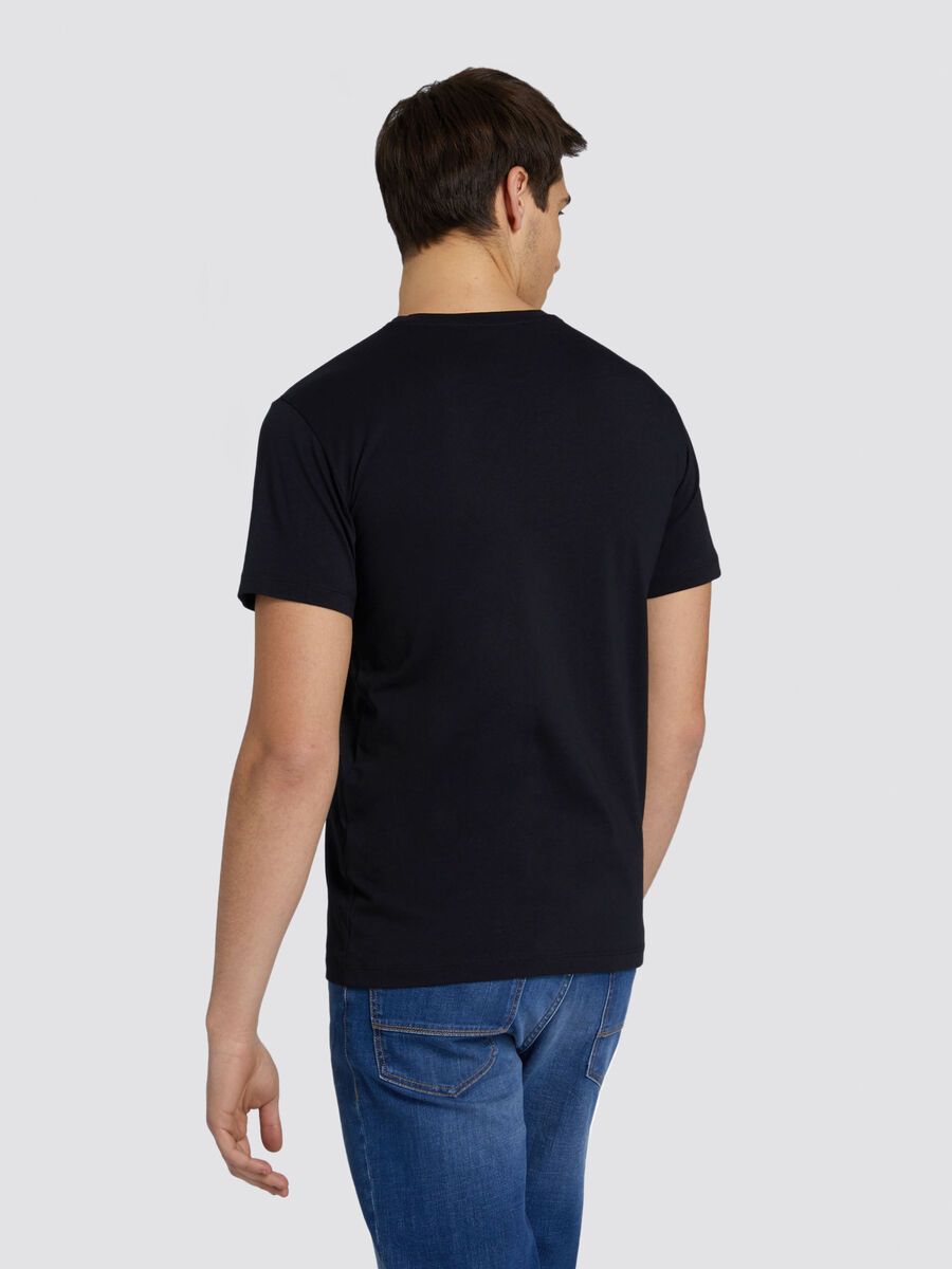 Regular fit jersey T shirt with UFO print