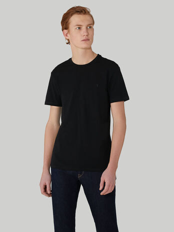 Camiseta de corte slim de punto de algodon elastico
