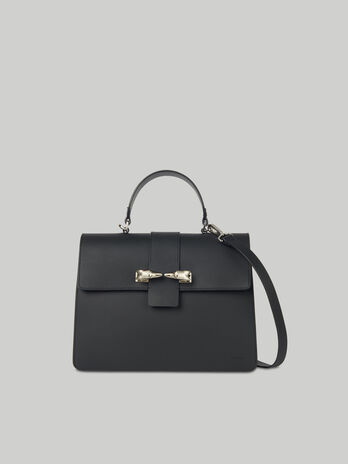 Leather and suede Milano top-handle bag