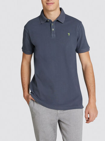 Polo regular fit in piquet a maniche corte