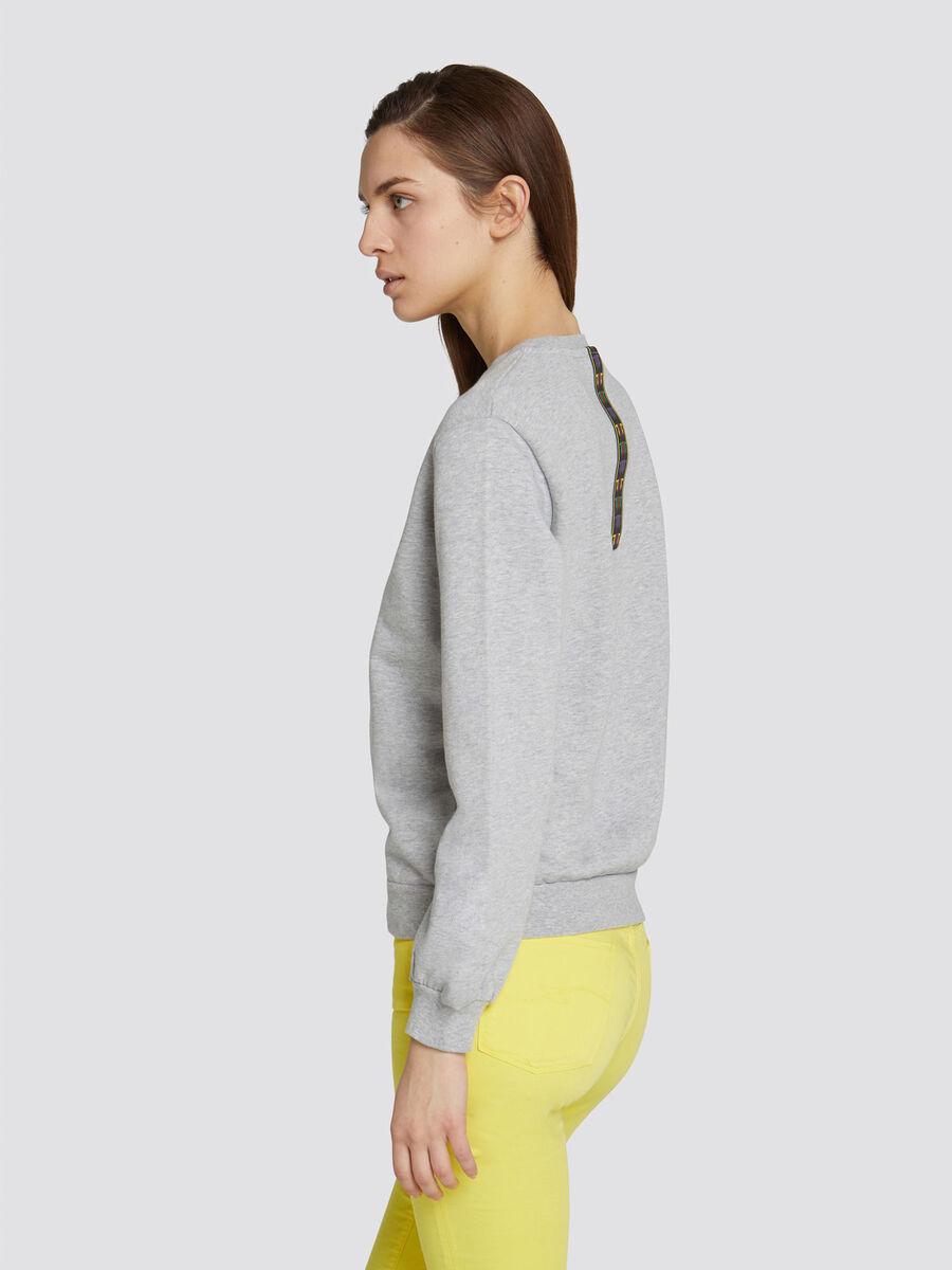 Sweatshirt in normaler Passform mit Mini Logo