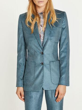 Two button velvet jacket