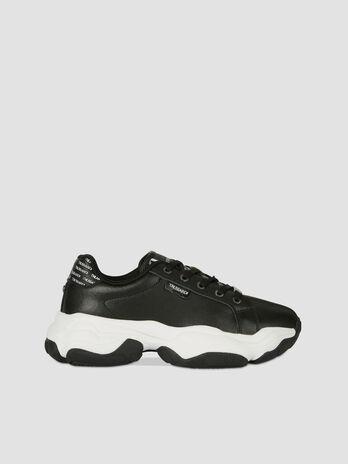 Sneakers Abeila en similicuir colorblock