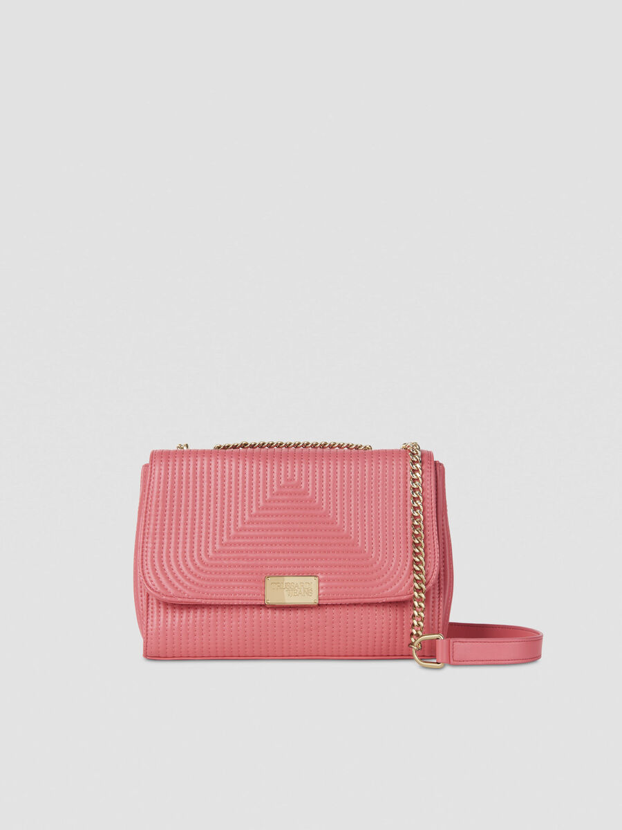 Medium Frida crossbody bag in quilted faux leather