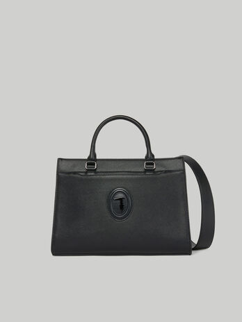 Medium Dahlia handbag in faux saffiano leather