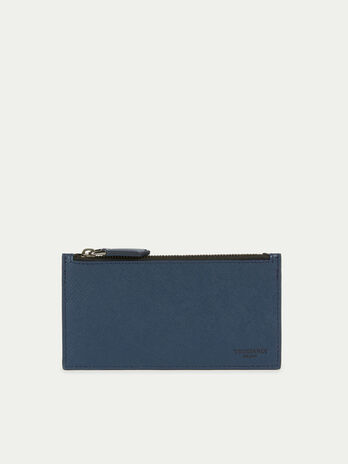 Maxi card holder wallet in saffiano print leather