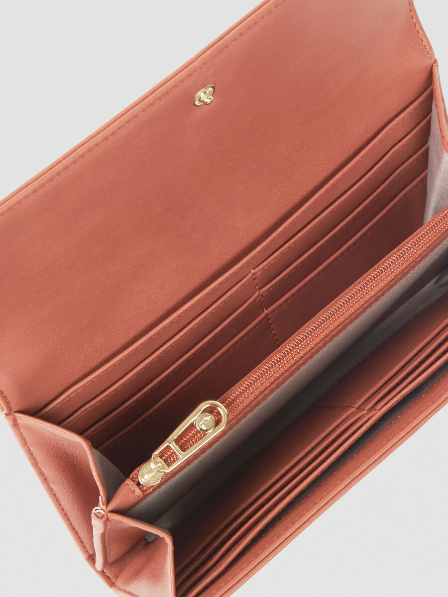 Large Mya continental purse in smooth faux leather