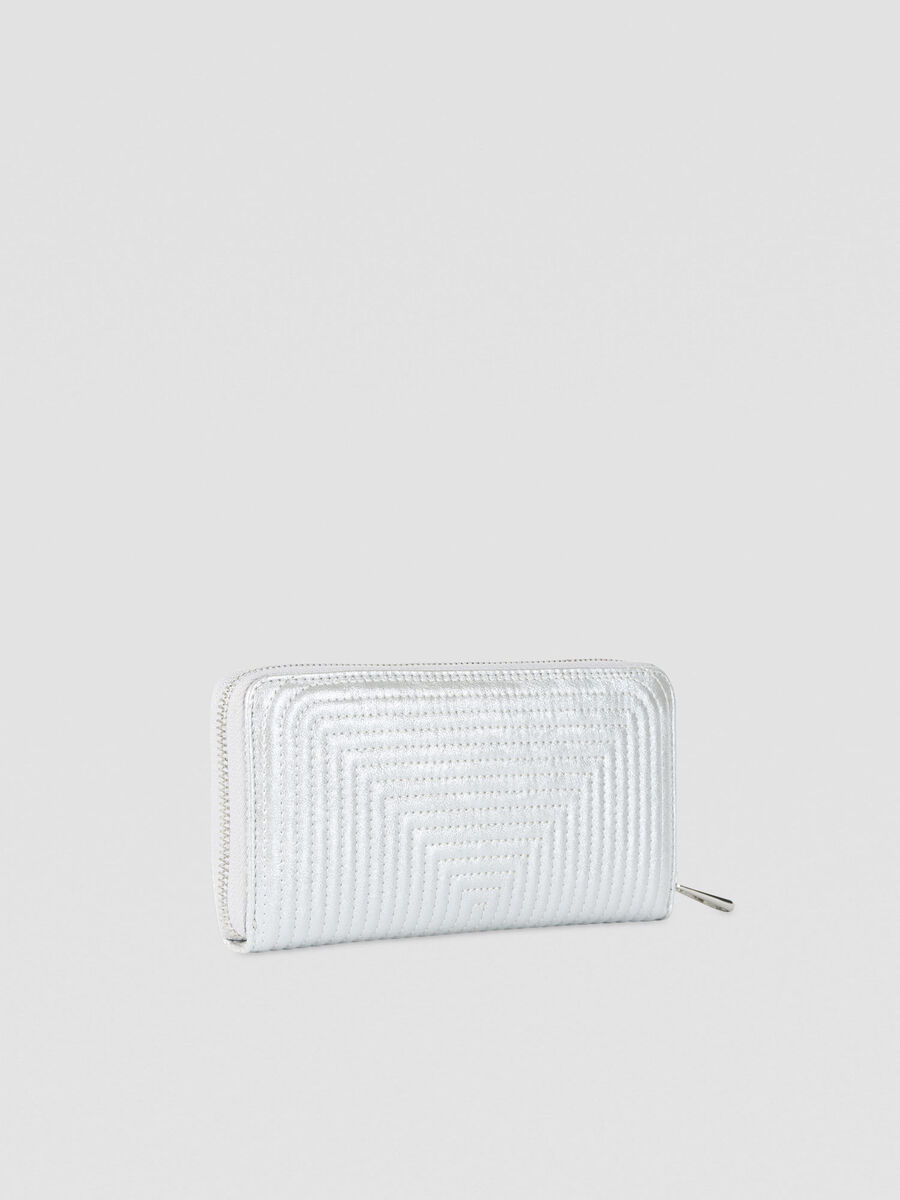 Large Frida purse in laminated faux leather