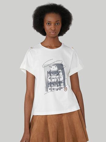 Boxy-fit cotton jersey T-shirt