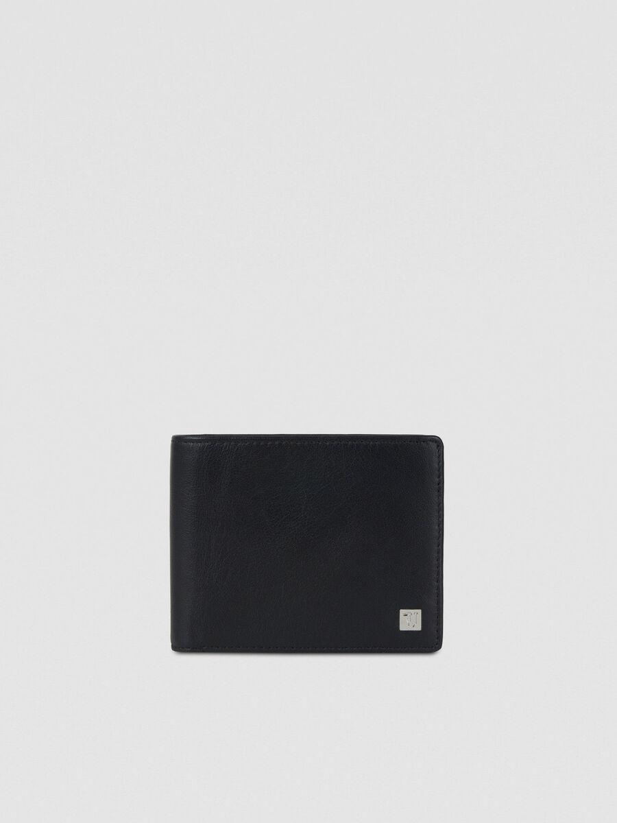 Zweiteilige Geldboerse aus Glattleder