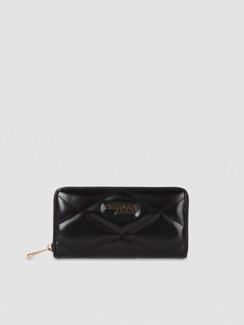 Large T-Easy City purse in quilted faux leather