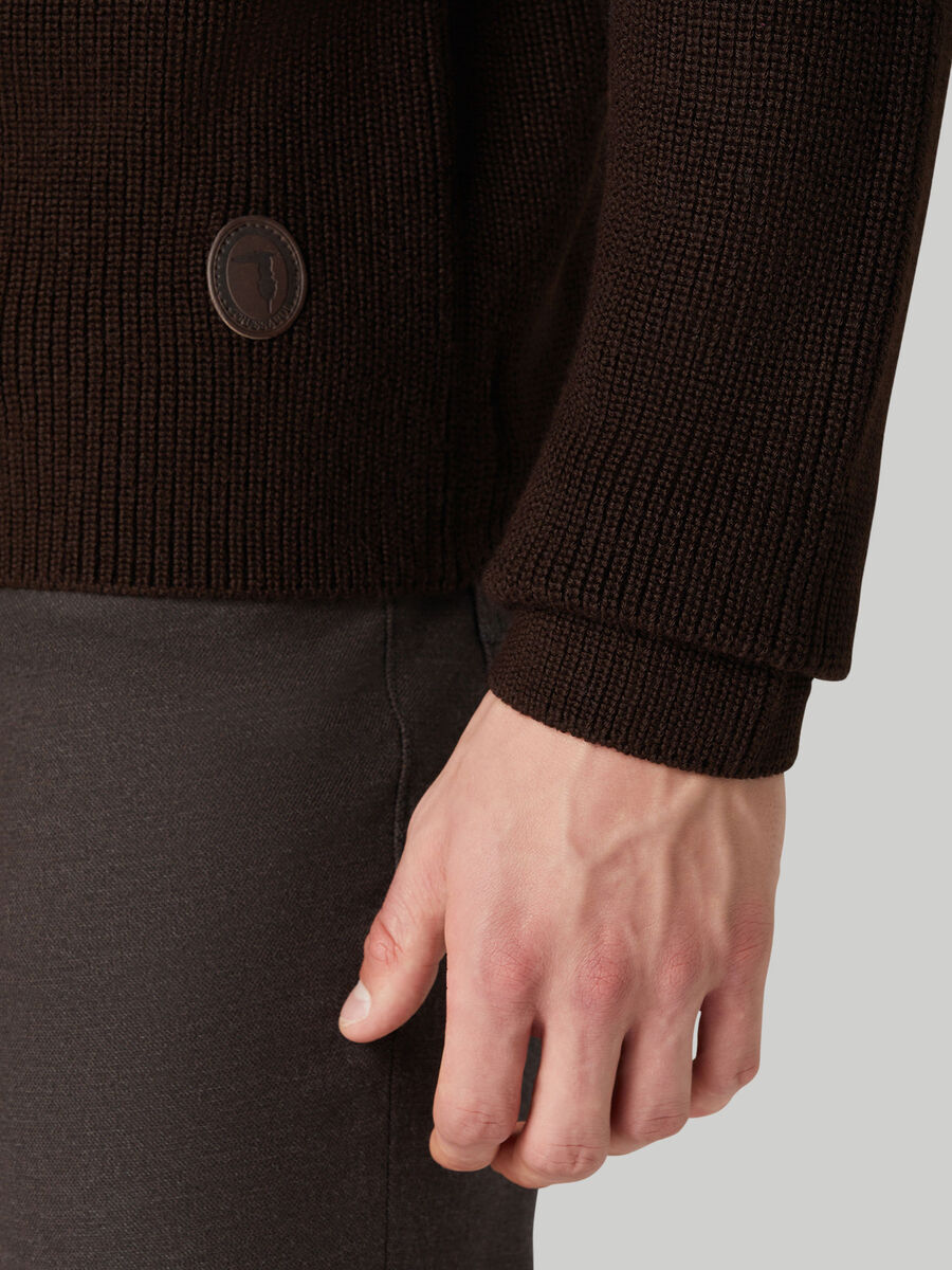 Regular-fit ribbed cardigan with zip