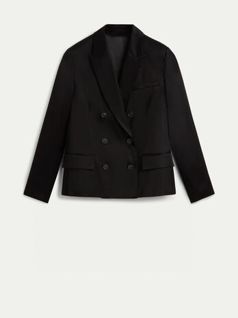 Double breasted viscose blazer
