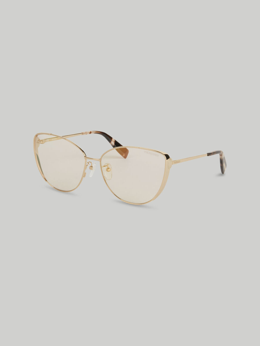 Schmetterlings-Sonnenbrille aus Metall