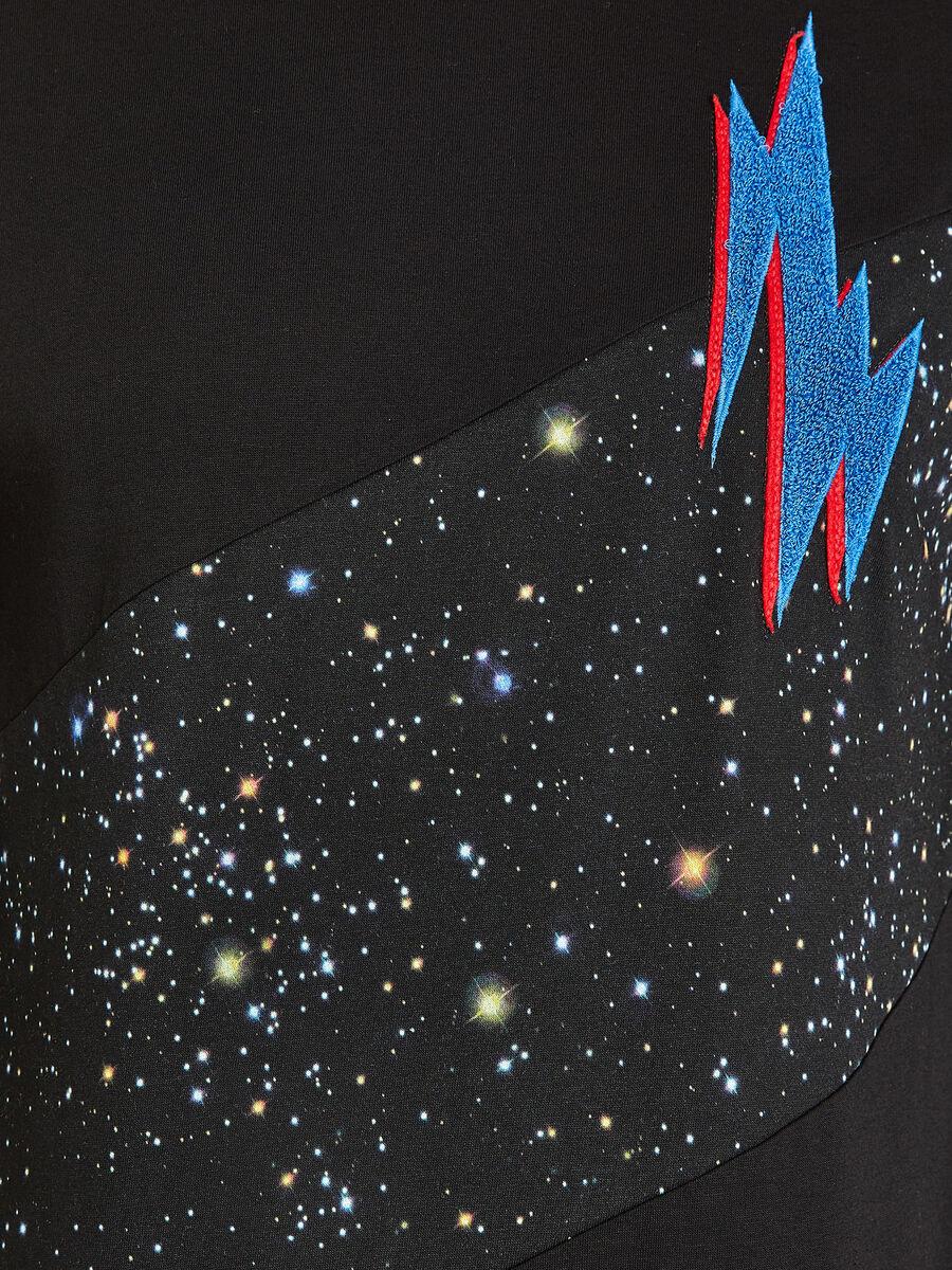 Maglia girocollo galaxy in cotone