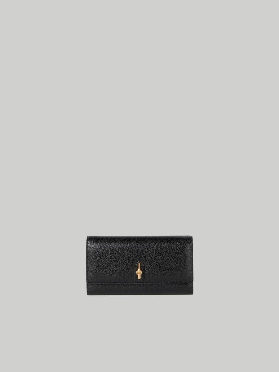 Portefeuille continental Emma grand format imprime cerf