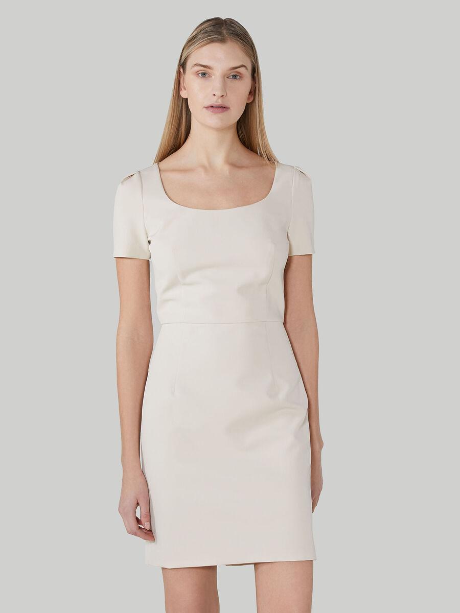 Short technical cady dress