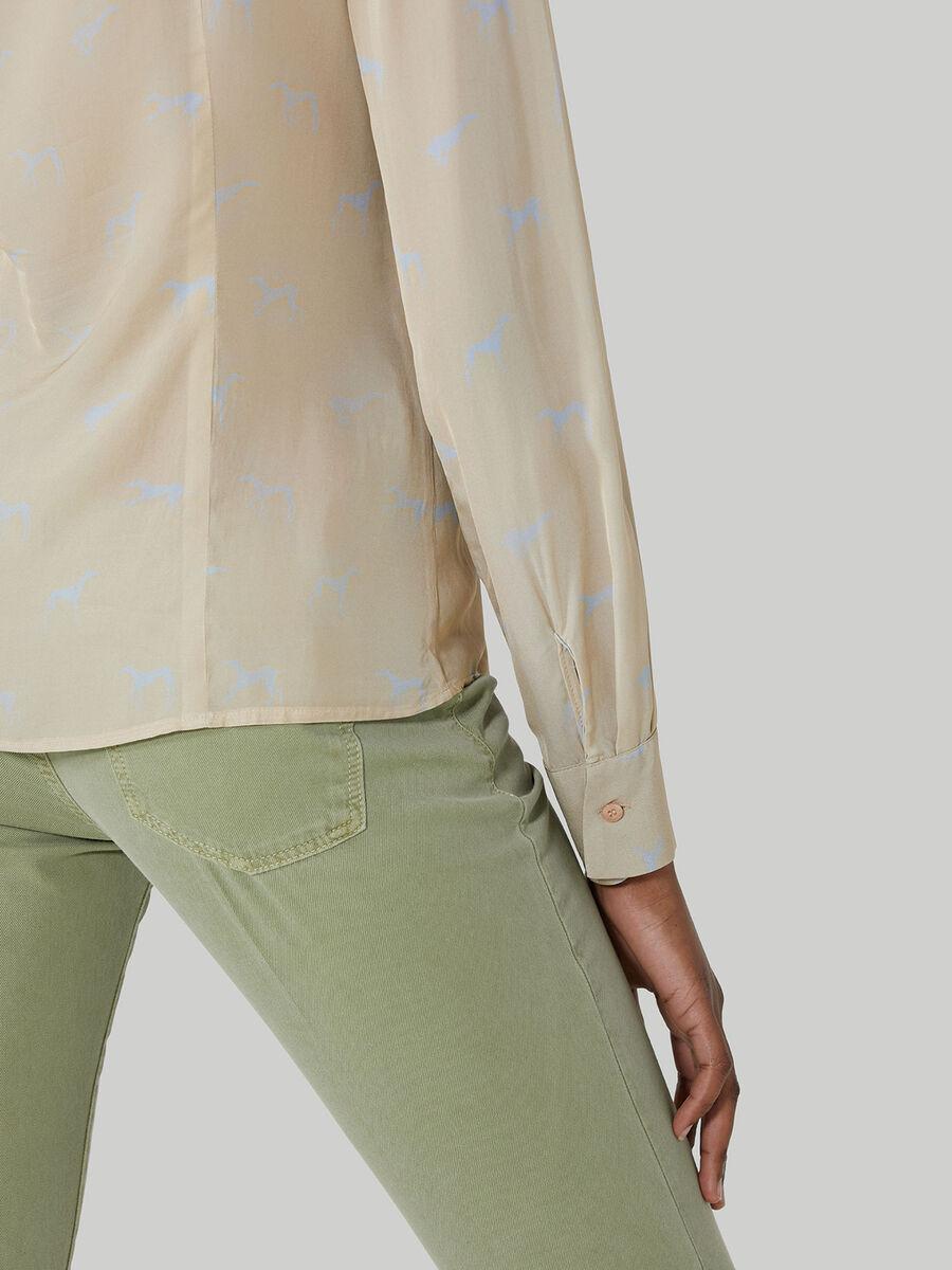 Levriero-print viscose shirt