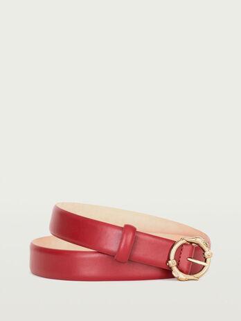 Cintura pelle gange con levrieri