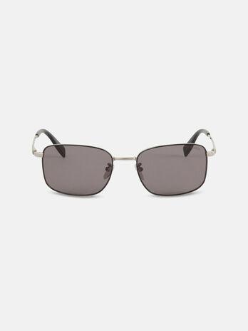 Rectangular titanium sunglasses