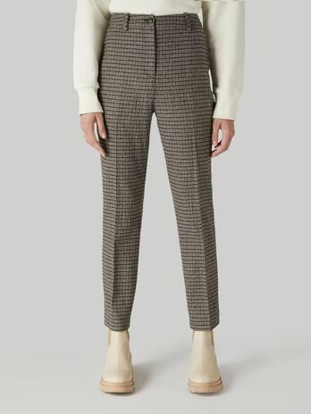 Chequered cigarette trousers