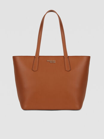 Medium Miss Carry tote bag in saffiano with charm