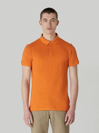 Poloshirt aus einfarbigem Baumwollpikee