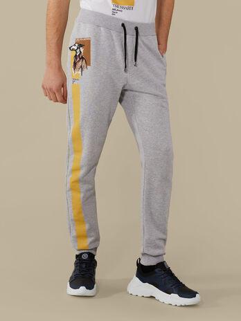Pantalon de corte jogging de felpa con estampado