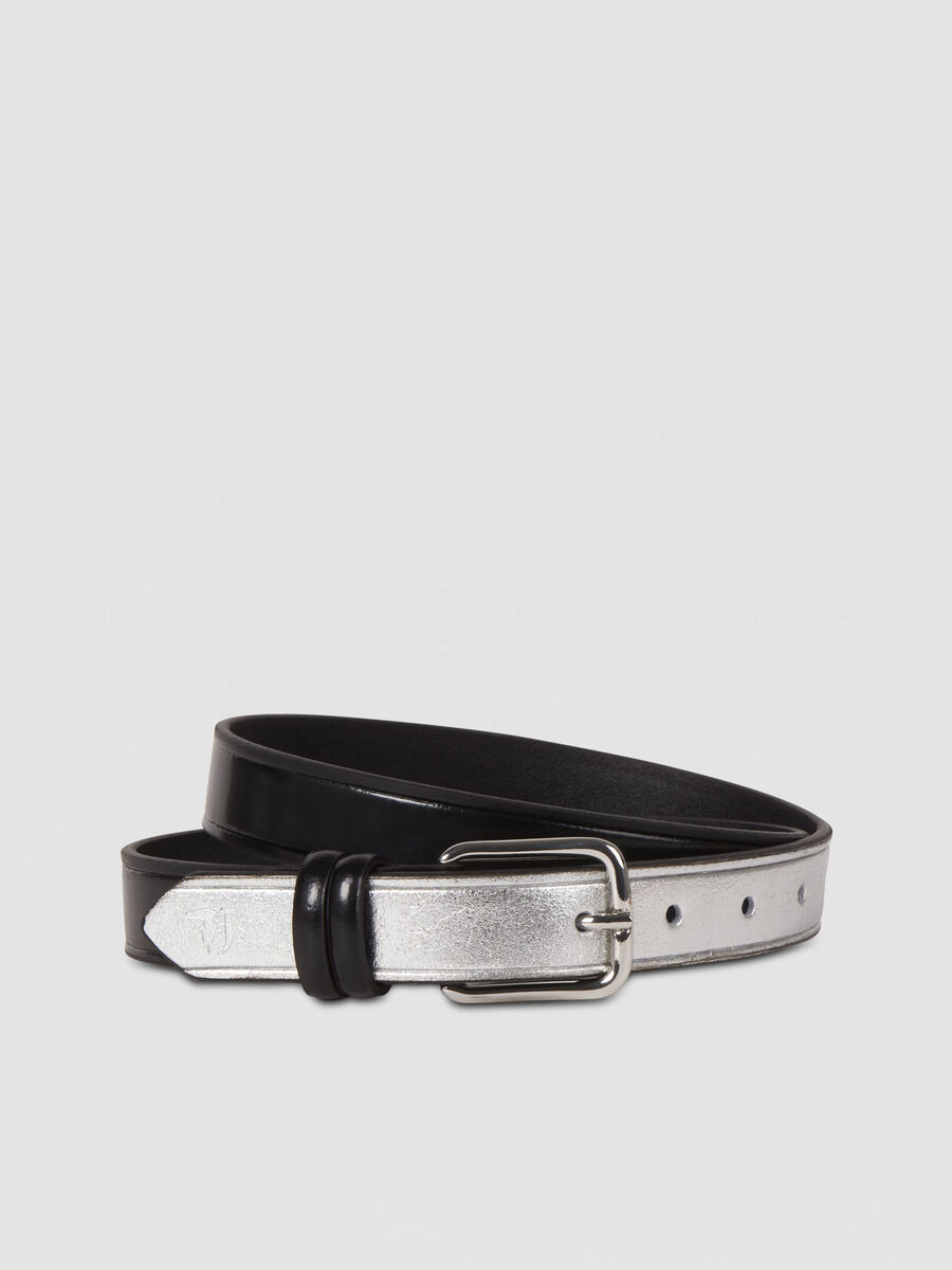 Free Design belt in two tone leather