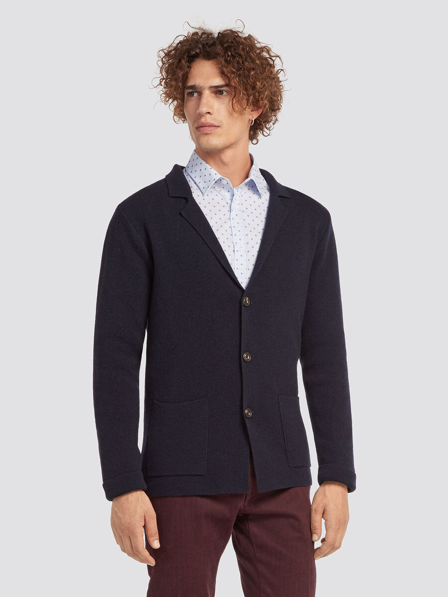 Regular fit wool blazer