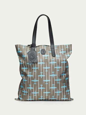 Airplane patterned shopping bag