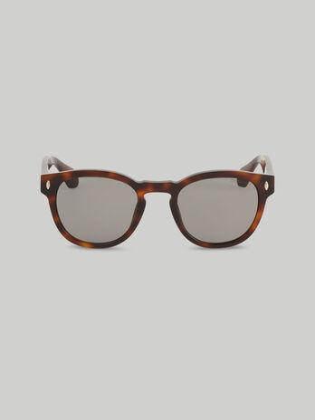 Round tortoiseshell acetate sunglasses