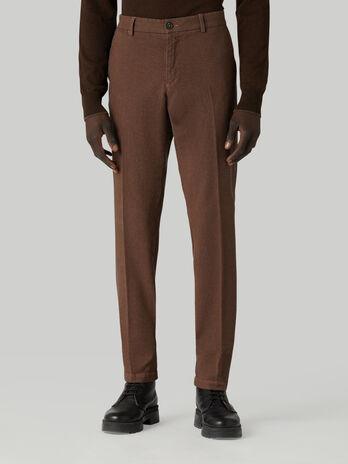 Cotton gabardine Aviator-fit trousers