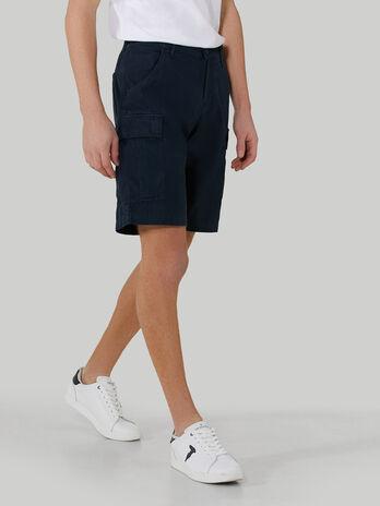 Ripstop fabric cargo shorts