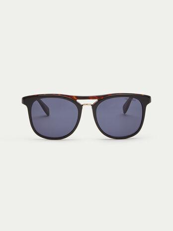 Gafas de sol con efecto carey oscuro