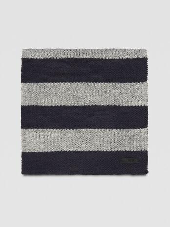Schal aus gestreiftem Wollmix