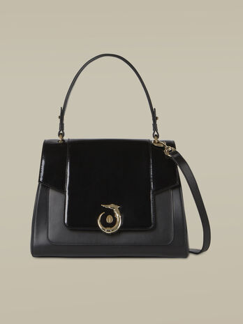 Handbag New Lovy regular in pelle specchio