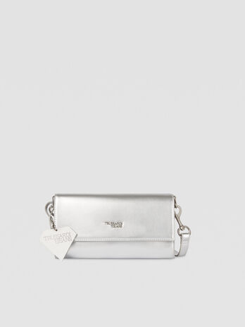 Small T-Easy Diamond clutch bag in faux leather