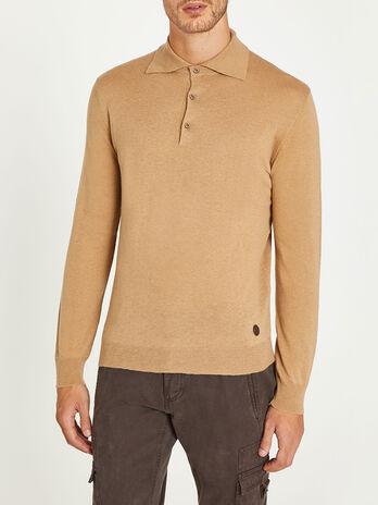 Cashmere silk round neck sweater