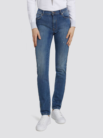 Skinny Seasonal 105 jeans with mini side band