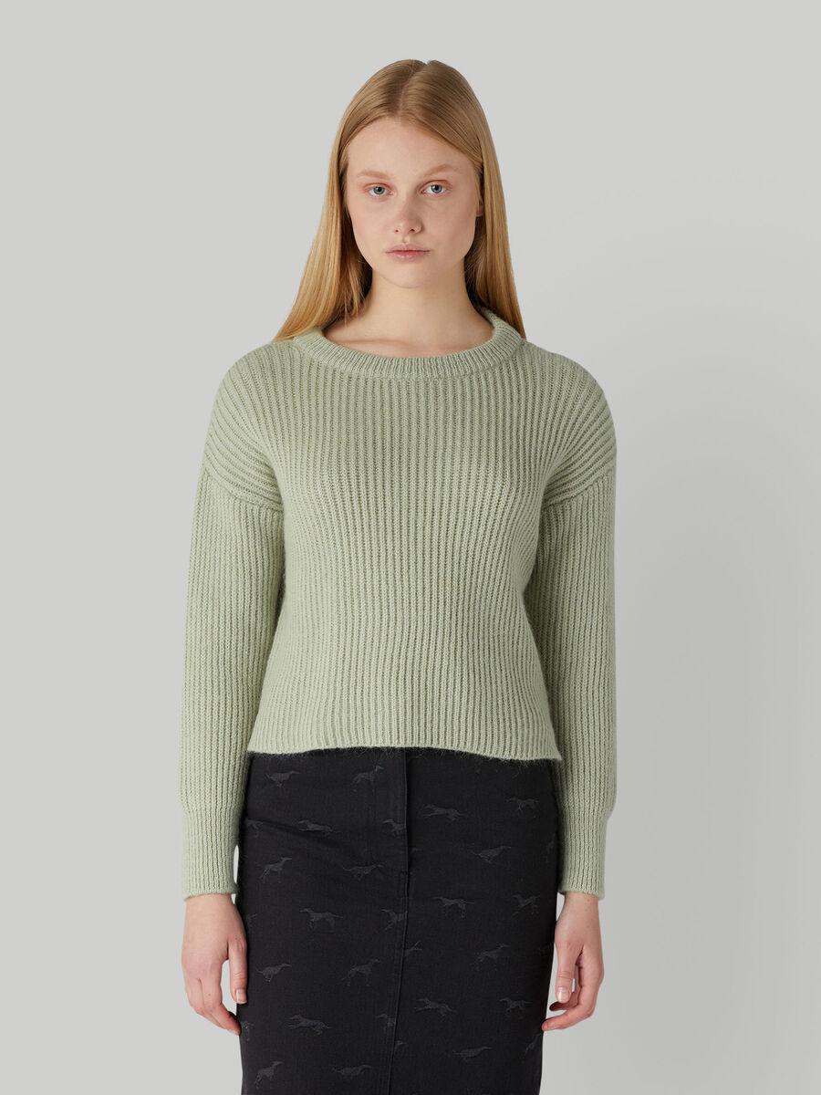 Pullover boxy fit in maglia a coste